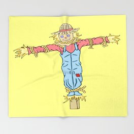 Happy Scarecrow Throw Blanket