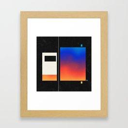 Double Points Framed Art Print