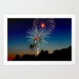 July 4th Fireworks Art Print