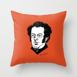 Franz Schubert Throw Pillow