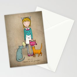 OCD - Obsessive Cat Disorder - Crazy Cat Lady Stationery Cards
