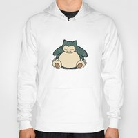 snorlax Hoodies featuring Snorlax by jeice27