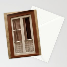 Window in a brown wall Stationery Cards
