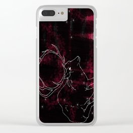 Stag in the Dusk Clear iPhone Case