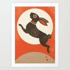 The Witch Hare (Fairy and Folk Tales of the Irish Peasantry) Art Print