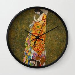 "Gustav Klimt ""Hope II"" Wall Clock"