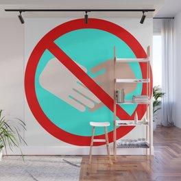 handshake forbidden warn sign for virus pandemic time Wall Mural