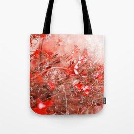 Bright Coral Floral Tote Bag