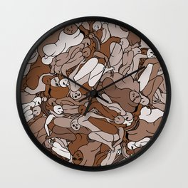 Chocolate Coffee Body Slugs Wall Clock