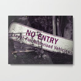 No Entry Sign Metal Print