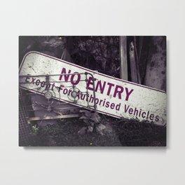 No Entry Sign Metal Print