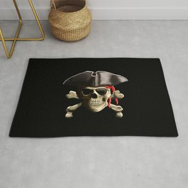 The Jolly Roger Pirate Skull Rug