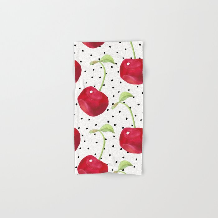 Cherry pattern II Hand & Bath Towel