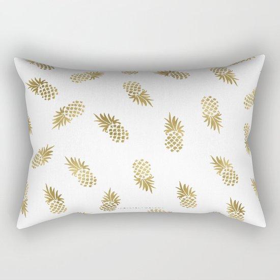 Gold Pineapples Rectangular Pillow