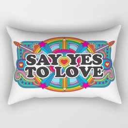 Say Yes To Love Rectangular Pillow