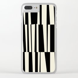 BW Oddities III - Black and White Mid Century Modern Geometric Abstract Clear iPhone Case