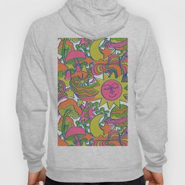 Psychedelic Daydream in Neon + White Hoody