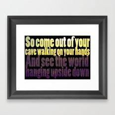The Cave Lyrics Framed Art Print