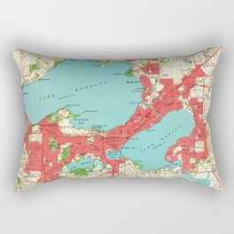 Vintage Map of Madison Wisconsin (1959) Rectangular Pillow