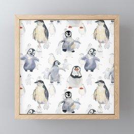 Funny penguins Framed Mini Art Print