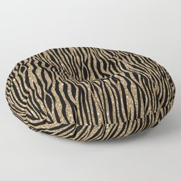 Black & Gold Glitter Animal Print Floor Pillow