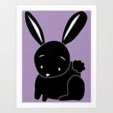 Funny Bunny Art Print