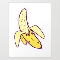 Hairy Banana Art Print