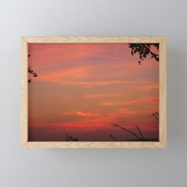 DYING EMBERS OF A FIERY SUNSET Framed Mini Art Print