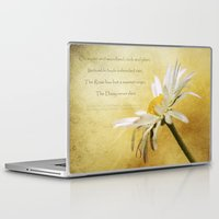 poem Laptop & iPad Skins featuring Daisy Poem by J Coe Photography