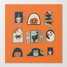 Halloween windows Canvas Print