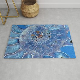 Blue seashell -mother-of-pearl - Beautiful backdrop Rug