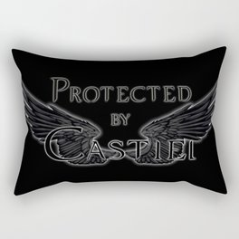 Protected by Castiel Black Wings Rectangular Pillow