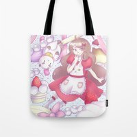 bee and puppycat Tote Bags featuring Bee & puppycat ver 2 by Kurodoj