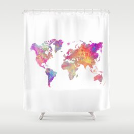 Map of the world #map #world Shower Curtain