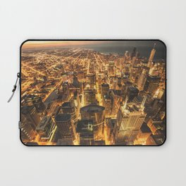 chicago aerial view Laptop Sleeve