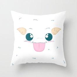 Fuzzy Poro Throw Pillow