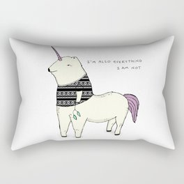 I am also everything I am not Rectangular Pillow