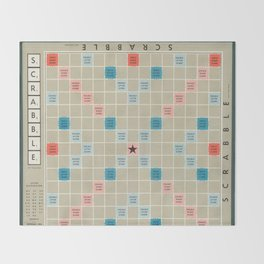 Scrabble Throw Blanket