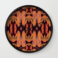kilim Wall Clocks featuring Azra Kilim by Nina May Designs
