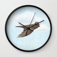 soul Wall Clocks featuring Old Soul by Terry Fan