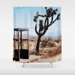 MOJAVE DESERT PHONE BOOTH Shower Curtain