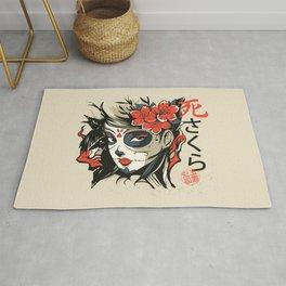 Sugar Skull Japanese Art Rug