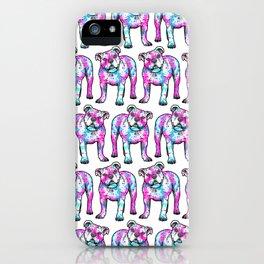 American Bulldog in Watercolor Splash iPhone Case