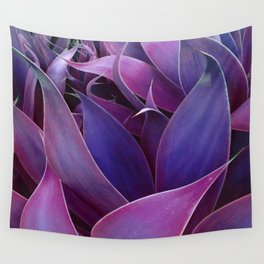 Leaves Abstract Magenta Pink Purple Wall Tapestry