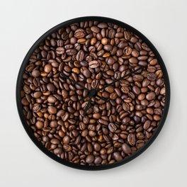 Coffee beans pattern Wall Clock