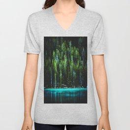 Emerald Pines Saphire Lake Unisex V-Neck
