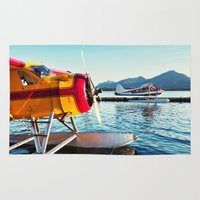planes Area & Throw Rugs featuring Float Planes by Shaun Lowe