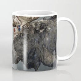 Eerik the Sami Shaman and Hirvi the Moose Coffee Mug