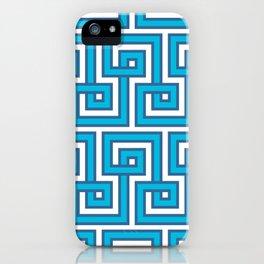 Greek Key - Turquoise iPhone Case