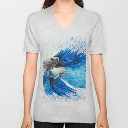 Phthalo Fish Tail Unisex V-Neck